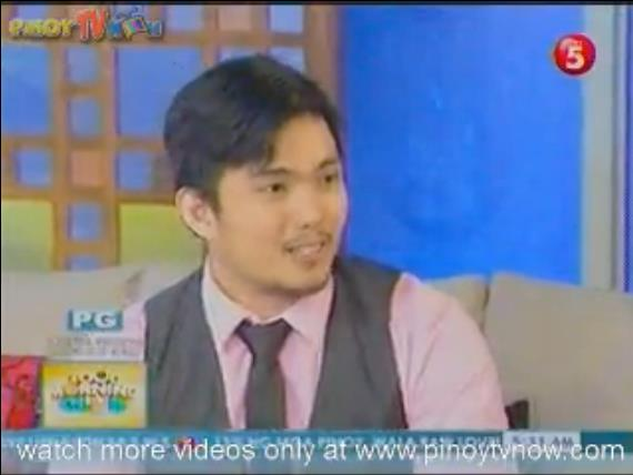 Ryu at the start of the interview. Image courtesy of TV5's Good Morning Club.